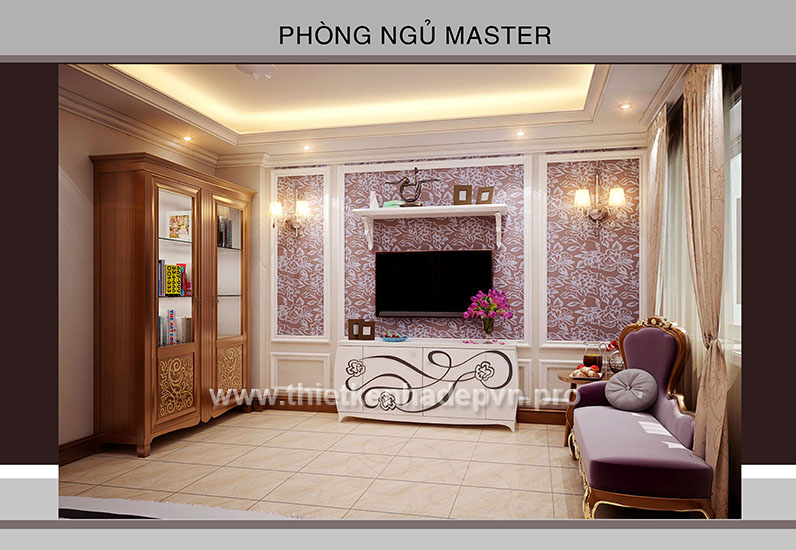 noi that phong ngu master hien dai, noi that dep, thiet ke noi that
