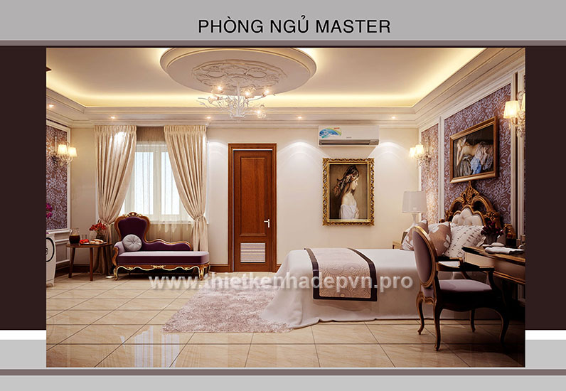 noi that phong ngu master, noi that dep, thiet ke noi that